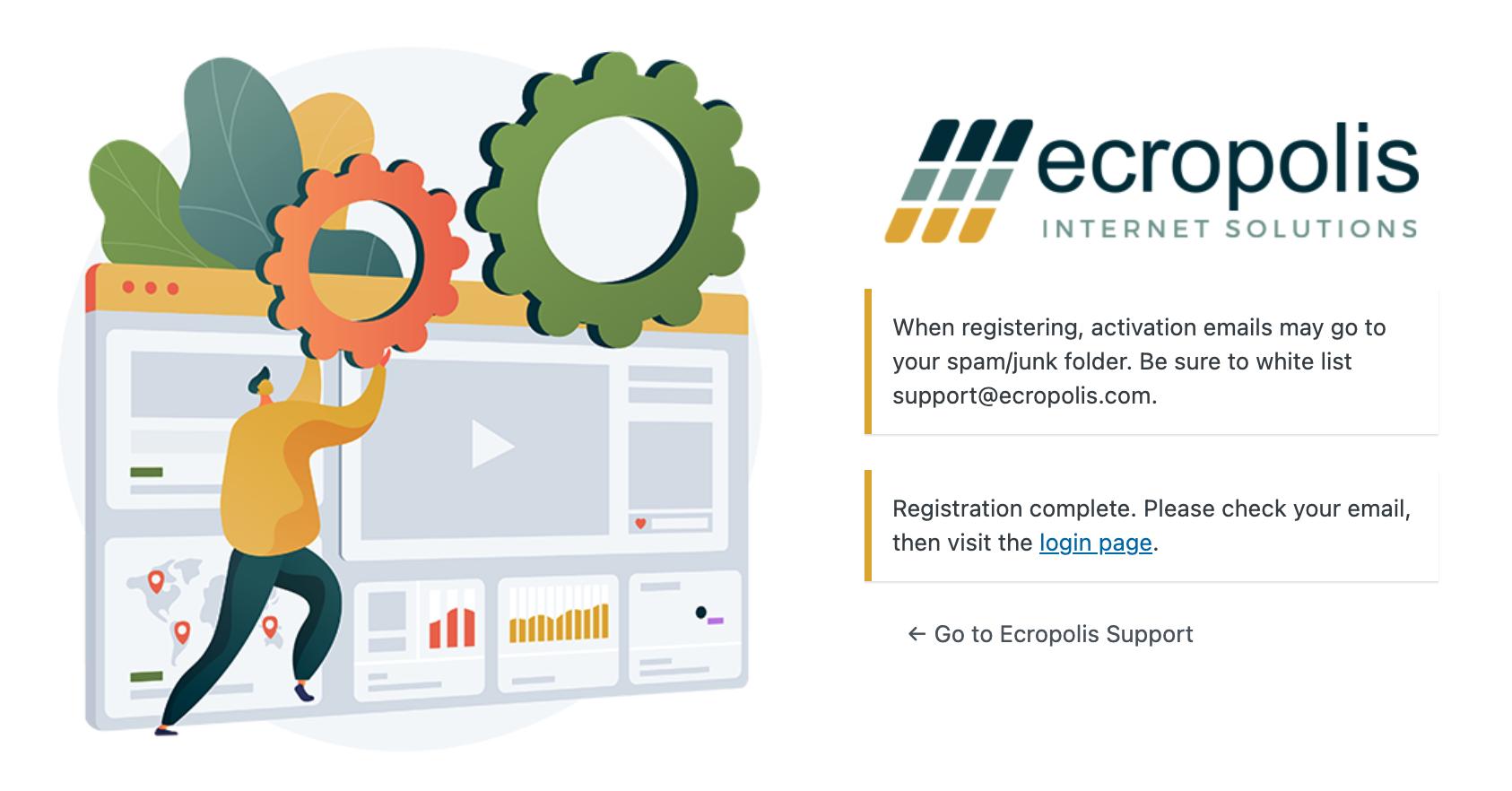 help-ecropolis-registration-complete